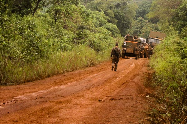 French Foreign Legion Operation Sangaris stuck in the mud, again, Central African Republic