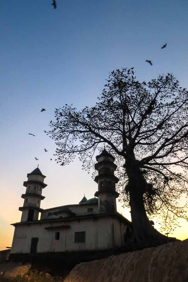 Sunset over the mosque in Kailahun, Sierra Leone