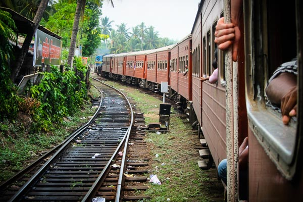 Train ride from Galle to Colombo, Sri Lanka