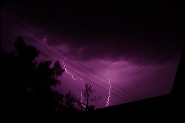 Lightning in Lashkar Gah, Afghanistan