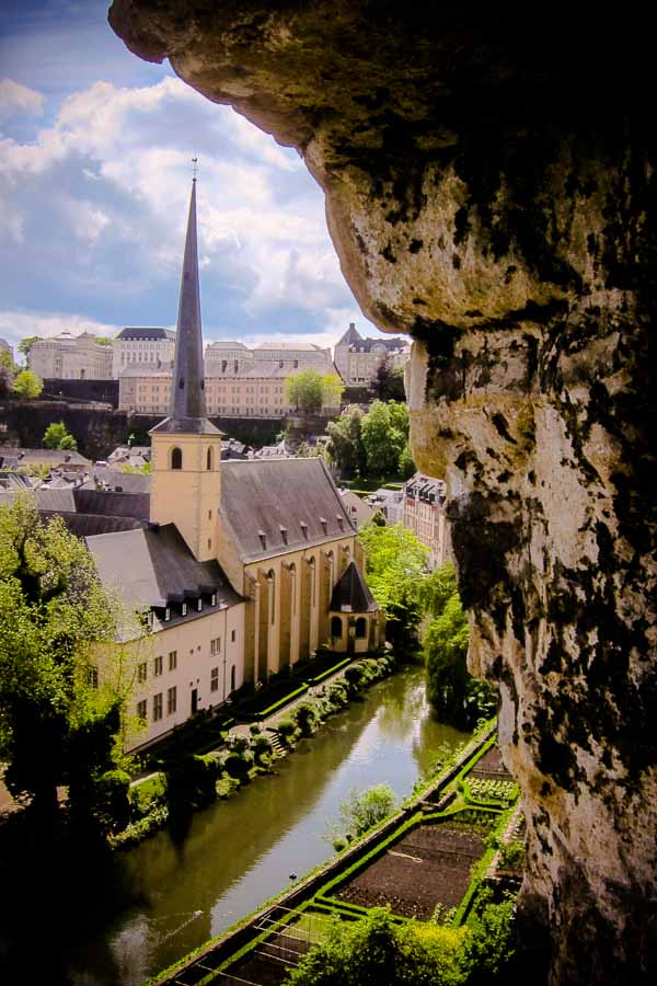 View from the Bock, Luxembourg City
