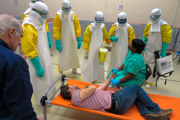MSF Ebola training course, Amsterdam