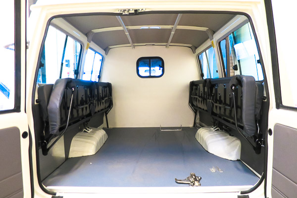 Modified Land Cruiser ambulance for Ebola
