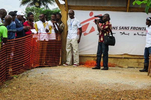 Sierra Leone President Ernest Bai Koroma visiting Kailahun Ebola Management Centre