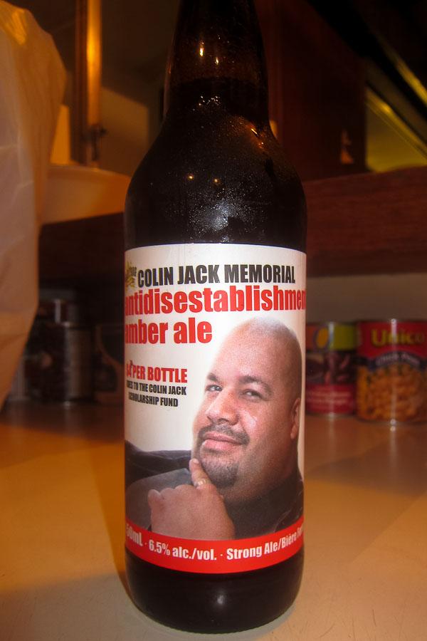 Colin Jack memorial Antidisestablishmentarianism Amber Ale