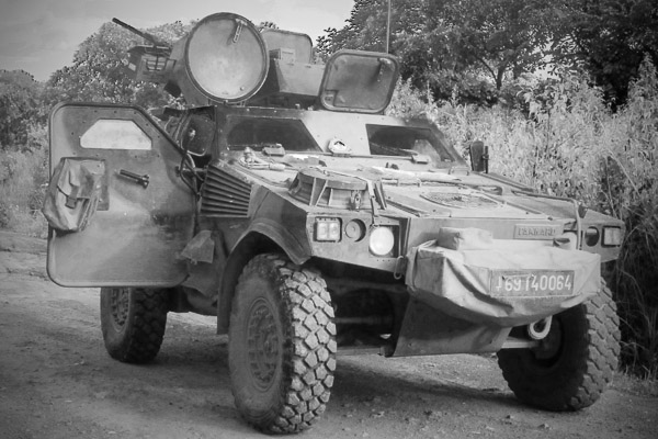 Panhard VBL of the French Foreign Legion in Ouaka, Central African Republic