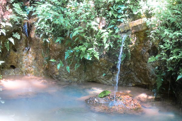 Spring water flowing near Lakandja, Central African Republic
