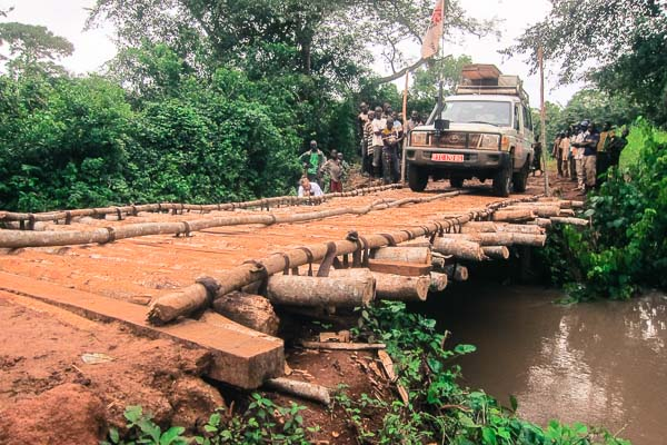 New Pont Pende, bridging Grimari and Kuango sub-prefectures in Ouaka, Central African Republic