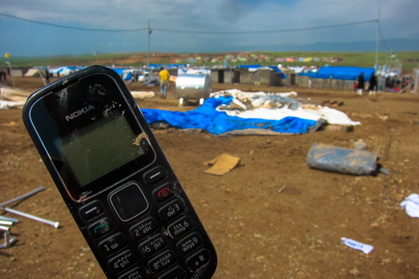 Nokia 1280 found amongst the rubble