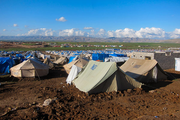 Perfect spring weather in Domiz Refugee Camp, 17 March 2013