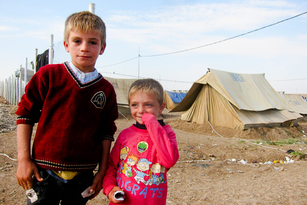 Refugee children I frequently saw in Domiz Refugee Camp, November 2012