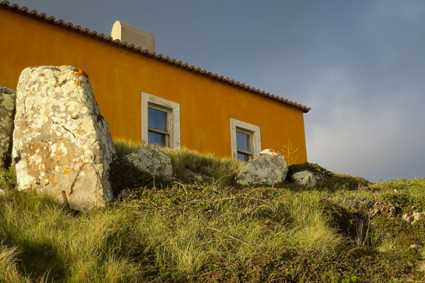 Yellow building in Sintra-Cascais Natural Park