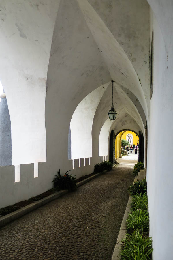 Grandiose vaulted carriageway into Pena Palace