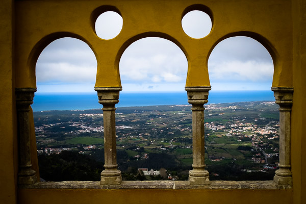 View to the Atlantic from Pena Palace
