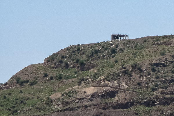 Hilltop building on 23 September 2015, shortly after several airstrikes