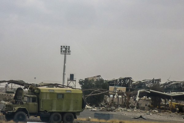 Bombed infrastructure at Sana'a International Airport, Yemen
