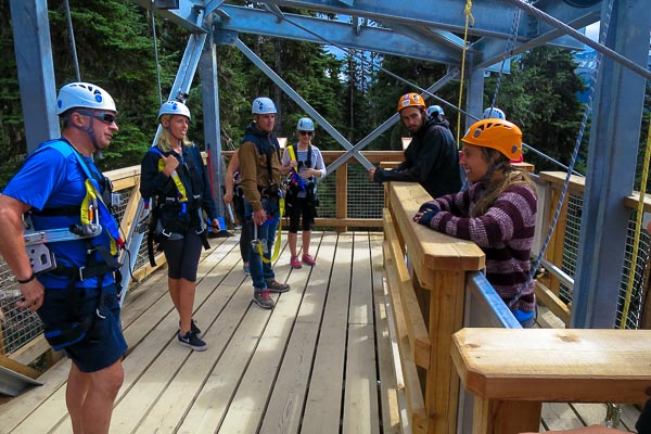 Sasquatch zipline platform, Blackcomb Mountain