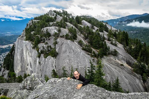 Climbing up to the Stawamus Chief first peak