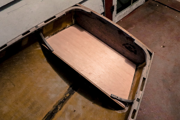 New stern seat for Jaro, the family rowboat