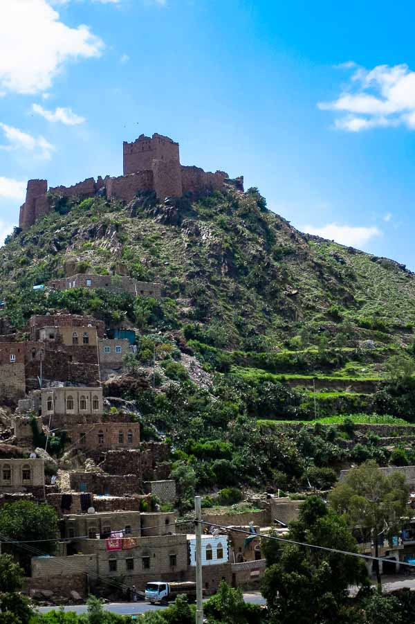 Old fortress on the drive from Sana'a to Taiz