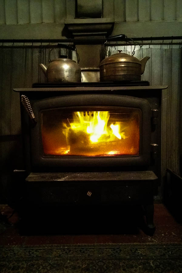 Woodstove on Bowen Island