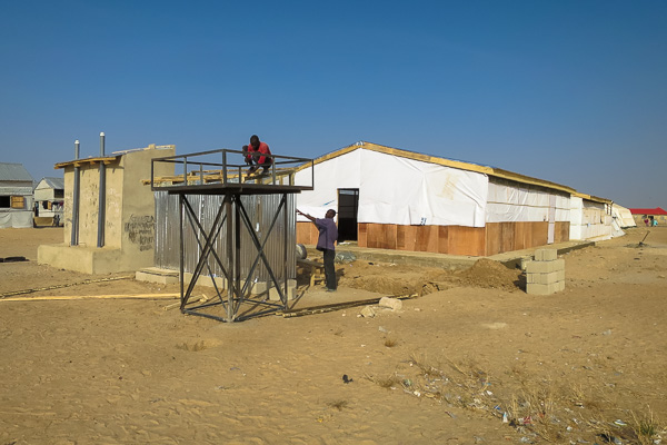 Basic maternity under construction in Maiduguri, Borno State, Nigeria