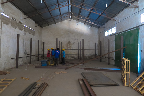 Medical storeroom under construction in Maiduguri, Borno State, Nigeria