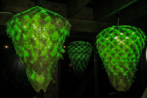 Massive hops lanterns at Ricardobel's house
