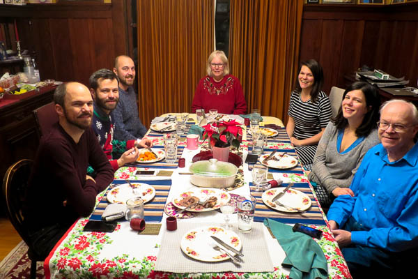 Early Christmas dinner with family in Vancouver