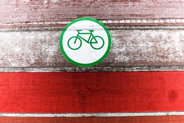 Bicycle icon in Portland, Oregon
