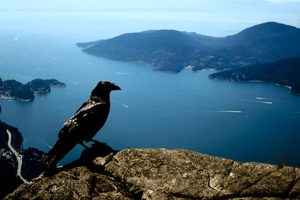 Looking down on Bowen Island from St Mark's Summit