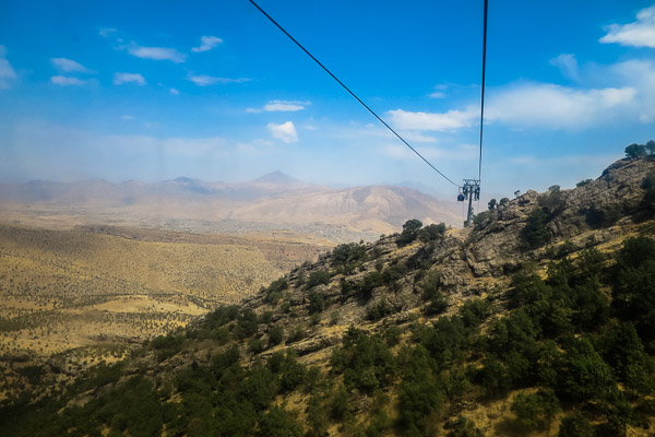 Gondola ride up Korek Mountain, Kurdistan, Iraq
