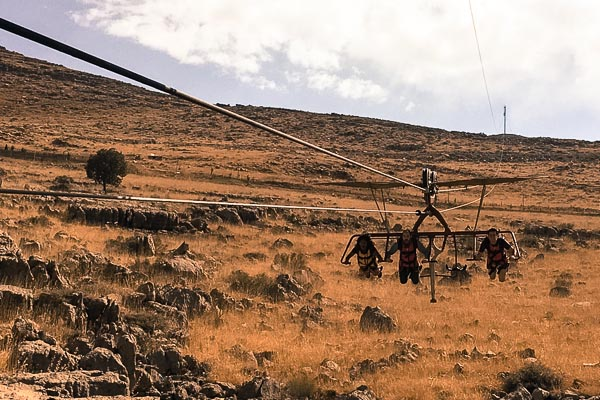 Skyflyer with Hajja and Simon on Korek Mountain, Kurdistan, Iraq