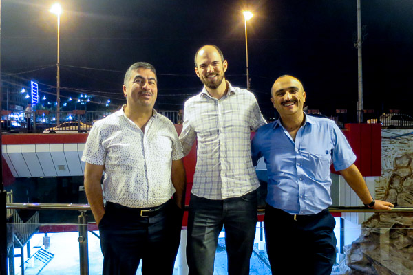 After a final big dinner in Duhok with Salih and Ziyad