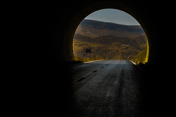 Tunnel through a mountain on the drive from Duhok to Erbil, Kurdistan, Iraq