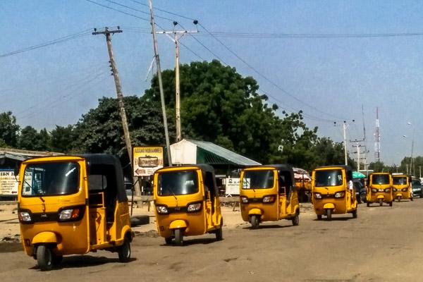 Keke NAPEPs in Maiduguri, Nigeria
