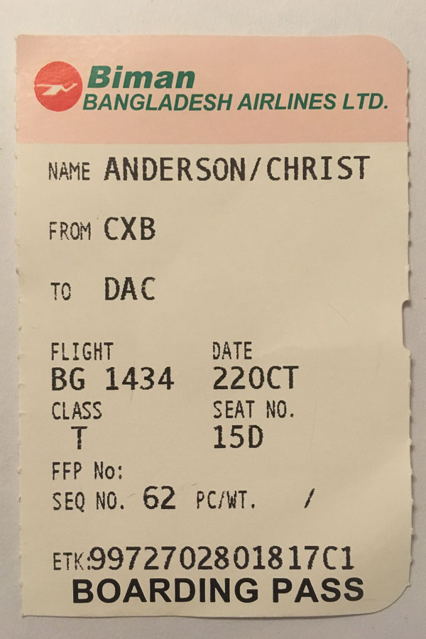 Boarding pass for my 400th flight; I