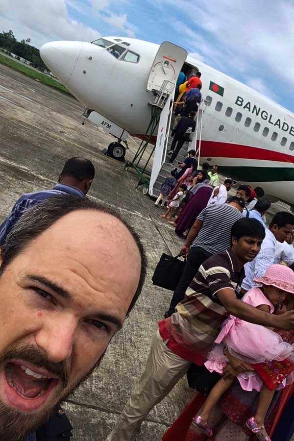 Selfie time in Cox's Bazar Airport, Bangladesh